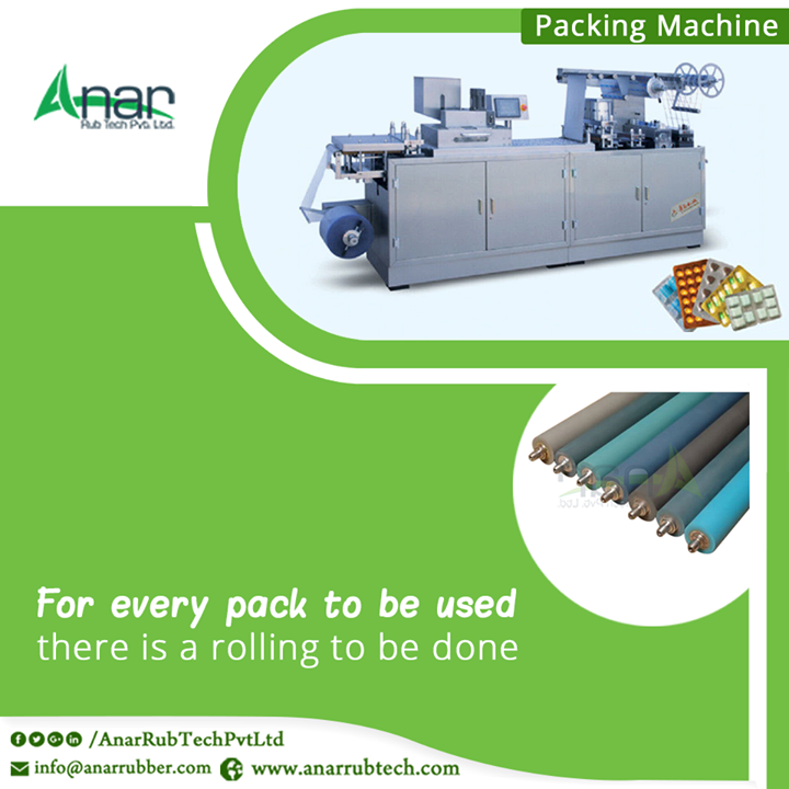 Rolling the package material by Anar Rub Tech for better packing and enduring life of a product inside the packet is done by high quality rollers. #RubberRollers #RubberRollersManufacturersforPackingMachine #RubberRollersExportersforPackingMachine #RubberRollersSuppliersforPackingMachine