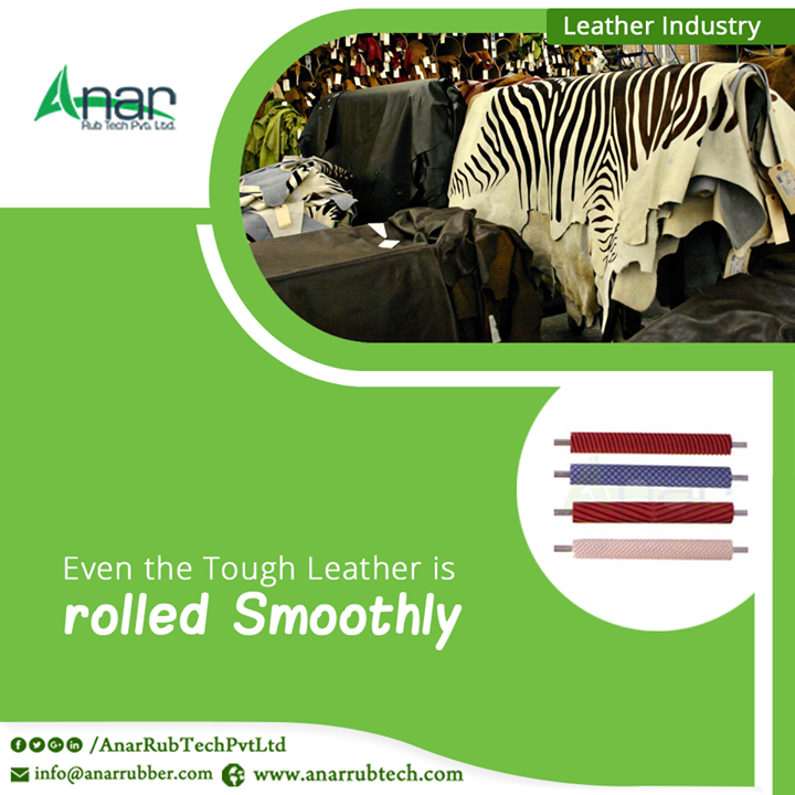 For any leather industry, high efficient Rubber Rollers by Anar Rub Tech are suitable for rolling the tough leather with ease and smoothly.  #RubberRollerForLeatherIndustries #BestManufacturersRubberRollerLeatherIndustries #BestExportersRubberRollerLeatherIndustries #BestSuppliersRubberRollerLeatherIndustries