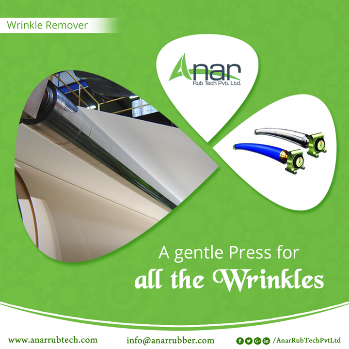 Wrinkle Removers by Anar Rub Tech work gently with all delicate materials and press with evenness by removing all the wrinkles. #WrinkleRemoverRollers #BestExportersofWrinkleRemoverRollers #WrinkleRemovingRollersExporters #WrinkleRemoverRollersSuppliers #ManufacturersofWrinkleRemovingRollers