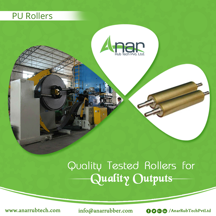 Every Roller of Anar Rub Tech is manufactured qualitative for better output in any industry.  #PURubberRollers #PURubberRollersManufacturers #PURubberRollersSuppliers #PURubberRollersExporters