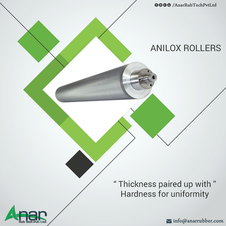 Anilox Coating Rollers by Anar Rub Tech with fully Copper material and thick and hard to handle any prolong operations of appliances.  #AniloxRollers #AniloxRollersManufacturers #AniloxRollersSuppliers #AniloxRollersExporters