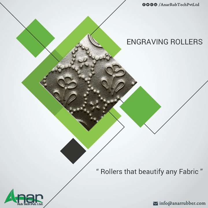 Engraving Rollers from Anar Rub Tech which beautifies any fabric of dupatta, saree or denim.   #EngravingRollers #EngravingRollersManufacturers #EngravingRollersSuppliers #EngravingRollersExporters