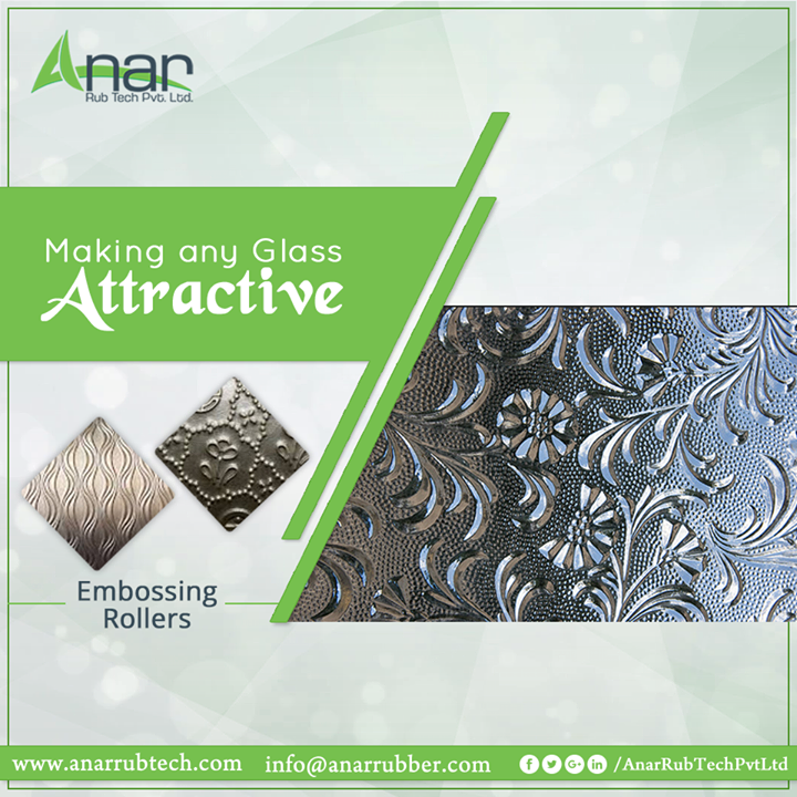Embossing Rollers by Anar Rub Tech are highly precise in printing for any glass leaving it attractive #EmbossingRollers #EmbossingRollersManufacturers  #EmbossingRollersSuppliers #EmbossingRollersExporters