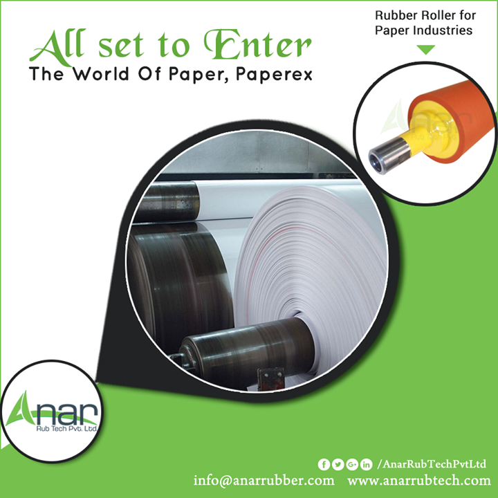 With its advanced mechanism and innovative ideas, Anar Rub Tech is all set for the most urbane event Paperex- The World Of Paper to be held at Delhi from 1st to 4th November.