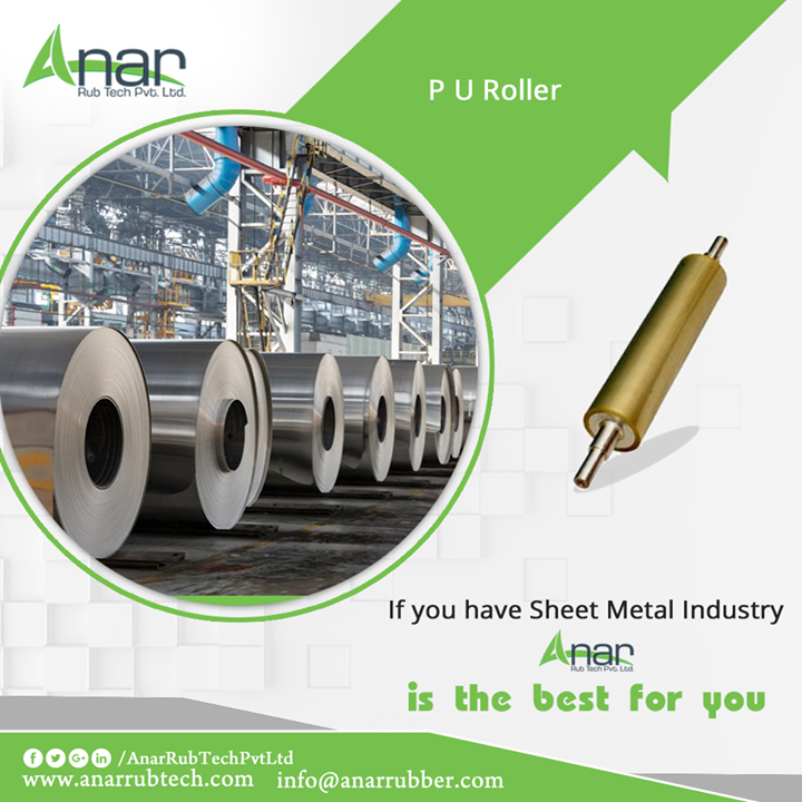 For any Sheet Metal Industry, Anar Rub Tech can help the best with its best quality PU rollers that are highly reliable and durable.   #PURollers #PURollersManufacturers #PURollersSuppliers #PURollersExporters