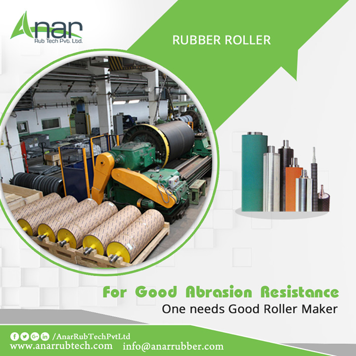 Well established Anar Rub Tech is popular enough to be known among every industry. Anar Rub Tech offers good abrasion resistance in its Rubber Rollers for better performance.   #RubberRoller  #RubberRollerManufacturers  #RubberRollerSuppliers  #RubberRollerExporters