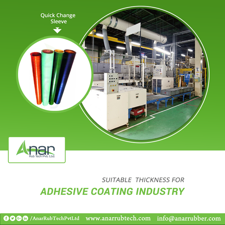 Anar Rub Tech manufactures Quick Change Sleeves that are ideal for Adhesive Coating industries and its processes. #QuickChangeSleeves #QuickChangeSleevesManufacturers #QuickChangeSleevesSuppliers  #QuickChangeSleevesExporters