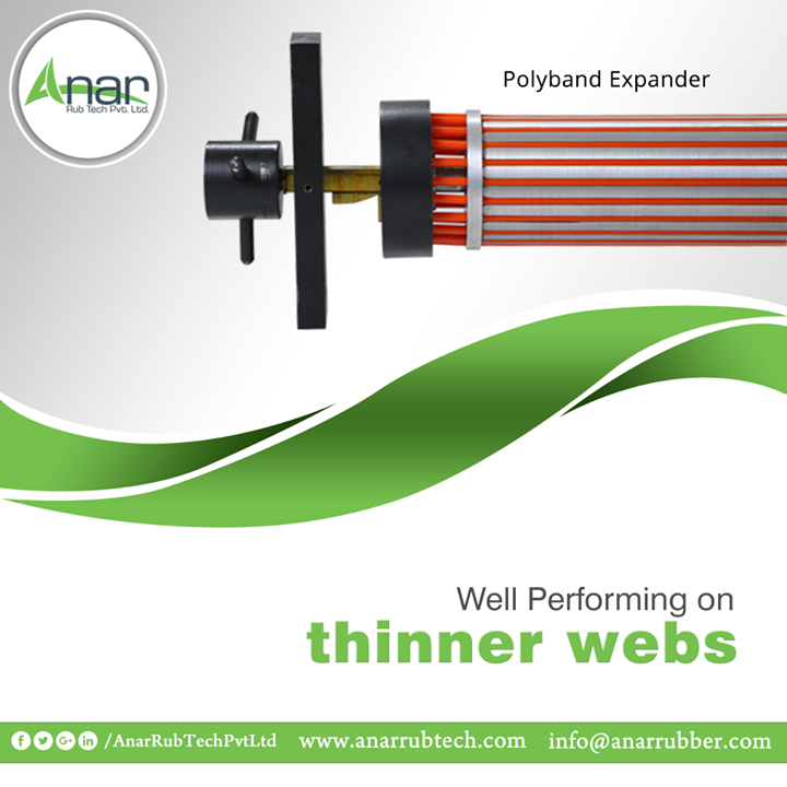 Industries running on the work of thinner webs will require Polyband Expander from Anar Rub Tech working evenly on any surface.  #PolybandExpander #PolybandExpanderManufacturers #PolybandExpanderSuppliers #PolybandExpanderExporters