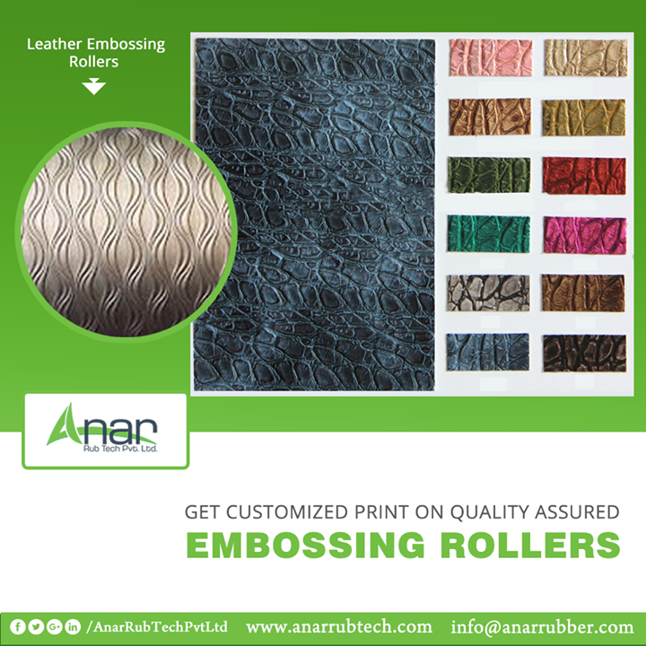 Now get a customized print on the Embossing Rollers by Anar Rub Tech for your suitable needs and requirements.   #LeatherEmbossingRollers #LeatherEmbossingRollersManufacturers  #LeatherEmbossingRollersSuppliers  #LeatherEmbossingRollersExporters