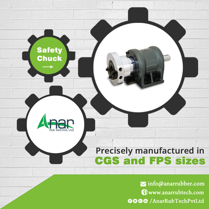 Anar Rub Tech manufactures Safety Chucks that are good in handling different objects from various positions with CGS and FPS sizes.   #SafetyChucks #SafetyChucksManufacturers #SafetyChucksExporters #SafetyChucksSuppliers