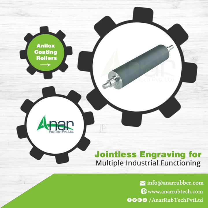 Joint less Engraved Anilox Coating Rollers by Anar Rub Tech that are usable by multiple industries for better functioning of operational activities.   #AniloxCoatingRollers #AniloxCoatingRollersManufacturers #AniloxCoatingRollersExporters #AniloxCoatingRollersSuppliers