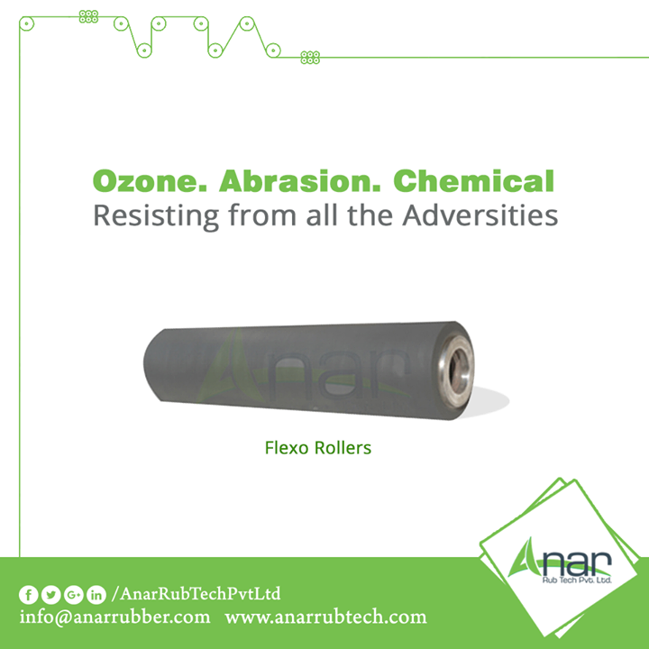 Flexo Printing Rollers by Anar Rub Tech are safe and resisted from all the adversities such as Ozone, Abrasion and Chemical to give longer working functions.   #FlexoPrintingRollers #FlexoPrintingRollersManufacturers  #FlexoPrintingRollersExporters #FlexoPrintingRollersSuppliers
