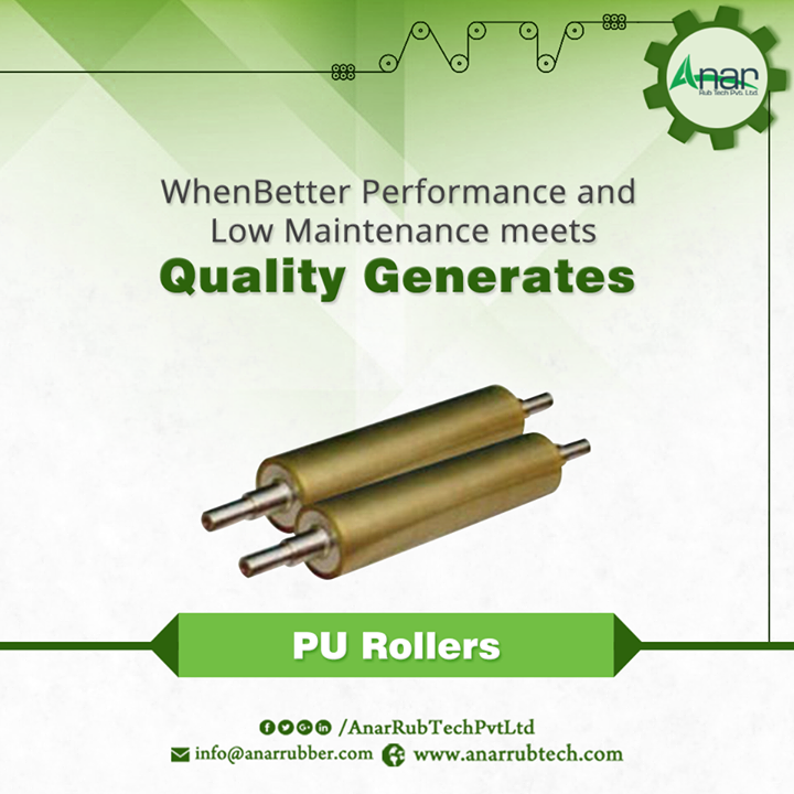 Anar Rub Tech manufactures High Quality PU Rollers that gives quality outcomes with the low maintenance.  #PURollers #PURollersManufacturers  #PURollersExporters #PURollersSuppliers