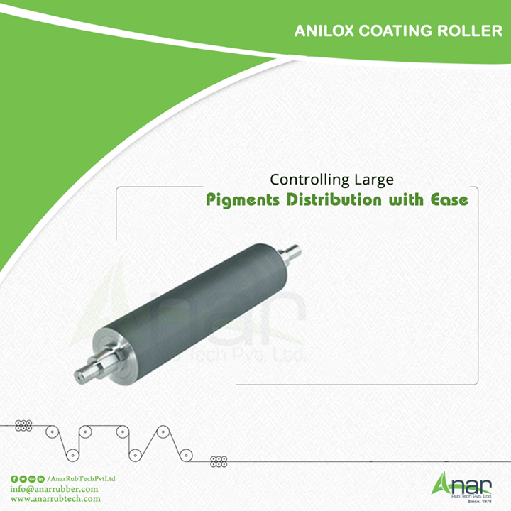 High tech Anilox Rollers from Anar Rub Tech are made with advanced mechanism that makes it easy to control any distribution of large pigments in an easy way. #AniloxCoatingRoller #AniloxCoatingRollerManufacturers #AniloxCoatingRollerExporters #AniloxCoatingRollerSuppliers