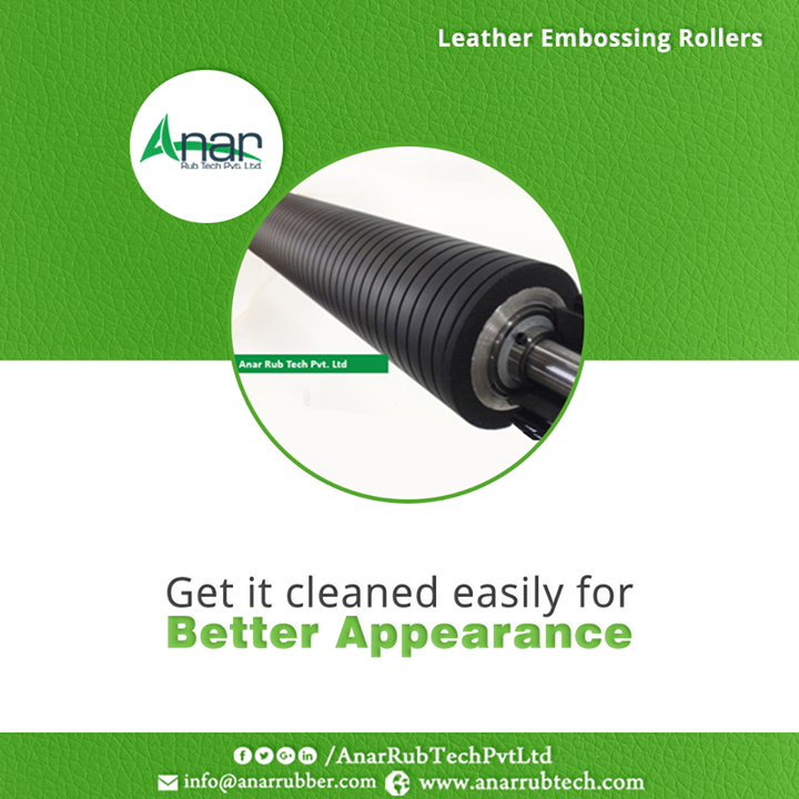 Leather Embossing Rollers from Anar Rub Tech are made in such way that makes it easy to clean and deliver the best results. #LeatherEmbossingRollers #LeatherEmbossingRollersManufacturers #LeatherEmbossingRollersExporters #LeatherEmbossingRollersSuppliers