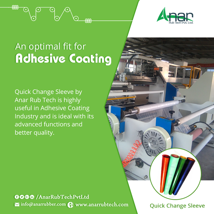 Quick Change Sleeve by Anar Rub Tech is highly useful in Adhesive Coating Industry and is ideal with its advanced functions and better quality. #QuickChangeSleeve #QuickChangeSleeveManufacturers #QuickChangeSleeveSuppliers #QuickChangeSleeveExporters