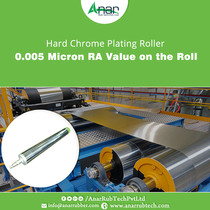 Anar Rub Tech manufactures supreme quality of Hard Chrome Plating Roller which has a surface finishing of 0.005 micron Ra value on the roll for mirror gloss finish.  #HardChromePlatingRoller #HardChromePlatingRollerManufacturers #HardChromePlatingRollerSuppliers #HardChromePlatingRollerExporters