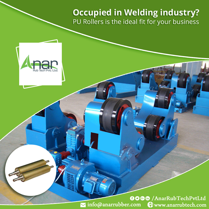 PU Rollers by Anar Rub Tech are manufactured with such expertise and advancement which gives high load bearing capacity, wear resistance and excellent performance.  #PURollers #PURollersManufacturers #PURollersSuppliers #PURollersExporters
