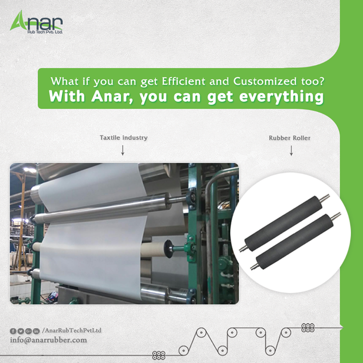 Anar Rub Tech manufactures customized rubber rollers also to facilitate client with its tailor made requirement with the utmost efficiency and high quality. #RubberRollers #RubberRollersManufacturers #RubberRollersSuppliers #RubberRollersExporters