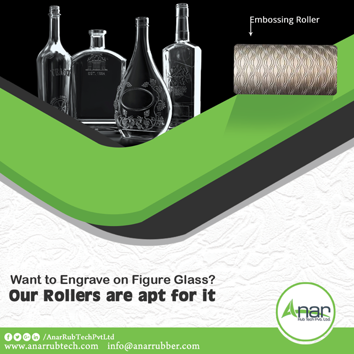 Embossing and Engraving on Figure Glass is also what high-end rollers from Anar Rub Tech are doing. High efficient rollers produce the maximum output in a productive way.  #EmbossingRoller #EmbossingRollerManufacturers #EmbossingRollerSuppliers #EmbossingRollerExporters