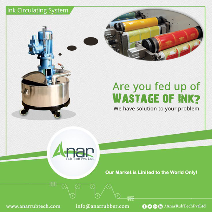 Ink Circulating System by Anar Rub Tech is made to reduce the wastage of ink and give the best outcomes.  #InkCirculatingSystem #InkCirculatingSystemManufacturers #InkCirculatingSystemSuppliers #InkCirculatingSystemExporters