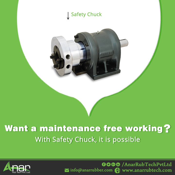Anar Rub Tech manufactures every machinery with the use of advanced technology which gives you a maintenance free working which includes Safety Chuck with its superior quality. #SafetyChuck  #SafetyChuckManufacturers #SafetyChuckSuppliers #SafetyChuckExporters