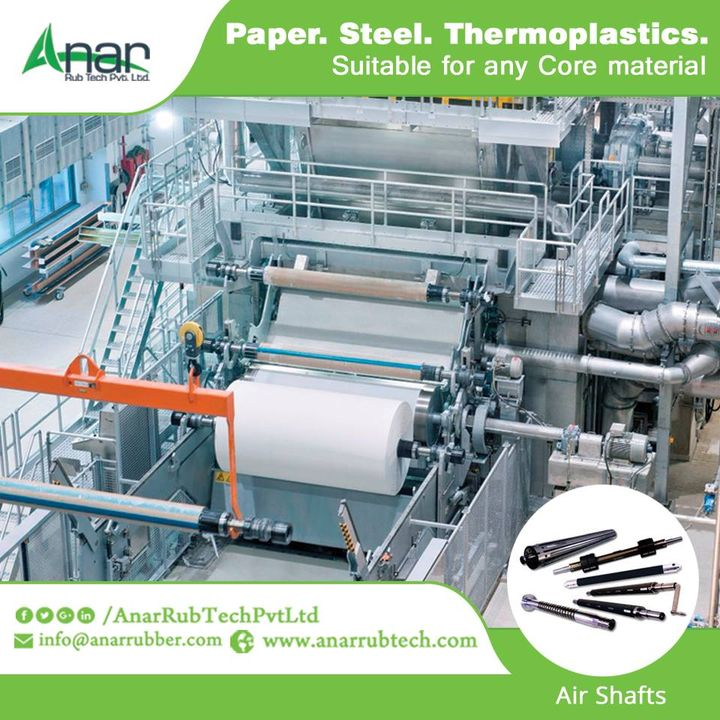 Good quality Air Shafts from Anar Rub Tech are manufactured to be ideal for paper, steel or thermoplastics and give the best output.  #AirShafts #AirShaftsManufacturers #AirShaftsSuppliers #AirShaftsExporters