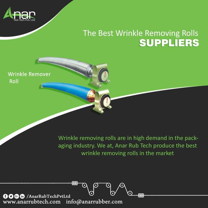 Wrinkle removing rolls are in high demand in the packaging industry. We at, Anar Rub Tech produce the best wrinkle removing rolls in the market #WrinkleRemovingRolls #WrinkleRemovingRollsManufacturers #WrinkleRemovingRollsExporters #WrinkleRemovingRollsSuppliers