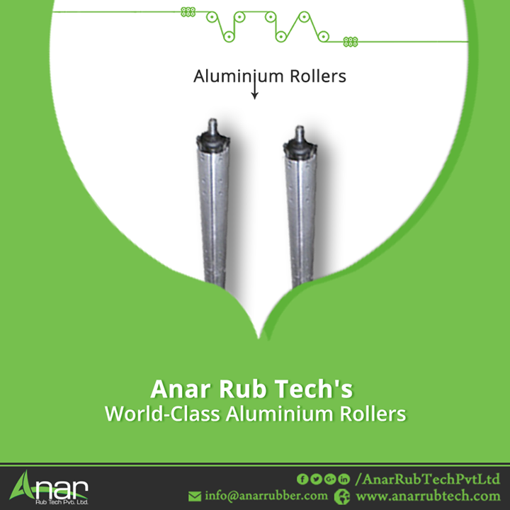 Aluminium rollers are needed for a variety of purposes. Moreover, these are durable rollers that are corrosion resistant. Anar Rub Tech is a leading aluminium roller supplier.Our aluminium rollers are extensively used in plastic, textile, printing, automotive industries. #AluminiumRollers #AluminiumRollersManufacturers #AluminiumRollersExporters #AluminiumRollersSuppliers