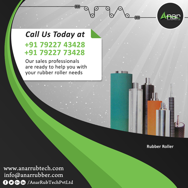 Our sales professionals are ready to help you  with your rubber roller needs  #AnarRubTechPvtLtd
