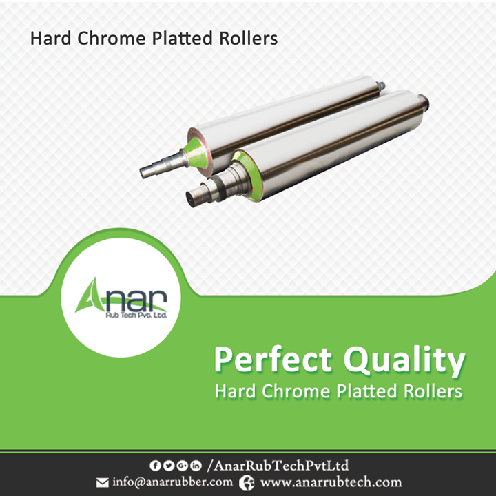 The hard chrome platted rollers or HCP as they are popularly called are a type of industrial rollers that are quite used nowadays. These rollers have great precision and a super glossy mirror finish. The length of the rollers manufactured by Anar Rub Tech varies from 524 x 6000mm and can lift loads up to 10 tons. We have immense experience about rollers and are the leading exporters of hard chrome platted rollers. #HardChromePlattedRollers #HardChromePlattedRollersManufacturers #HardChromePlattedRollersExporters #HardChromePlattedRollersSuppliers