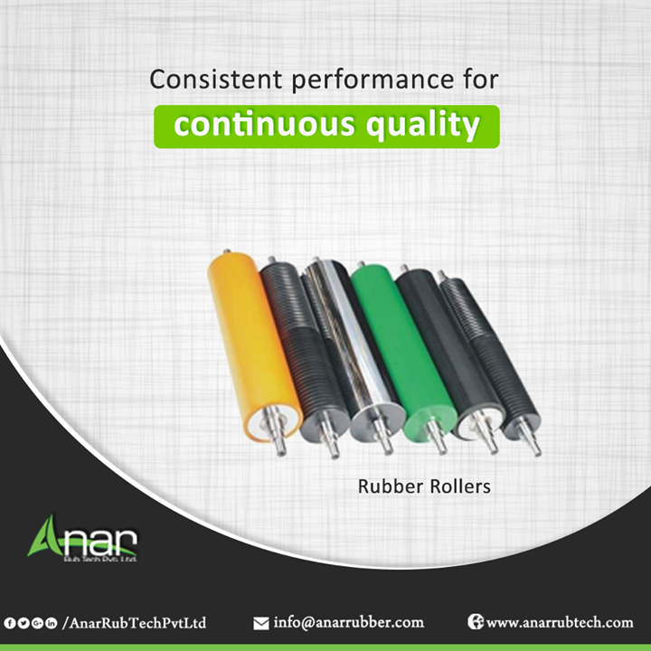 Rubber Rollers by Anar Rub Tech Pvt. Ltd. provides consistent quality of surfacing by removing all unevenness and bringing supple look.  #RubberRollers #AnarRubTechPvtLtd