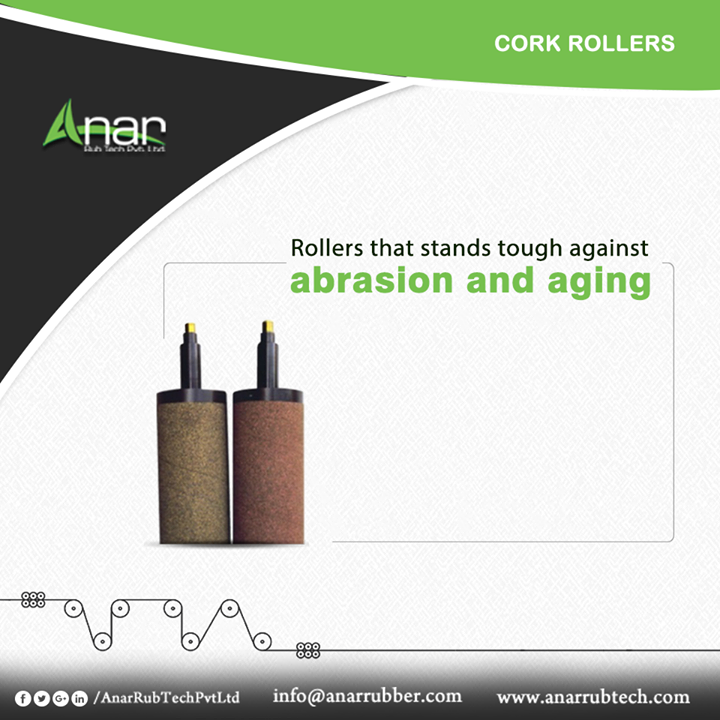 Anar Rub Tech Pvt. Ltd. manufactures Cork Rollers which are abrasion and aging resistant for better quality of film. Along with it, it is also customized according to the clients needs.  #CorkRollers #CorkRollersManufacturers #CorkRollersSuppliers #CorkRollersExporters