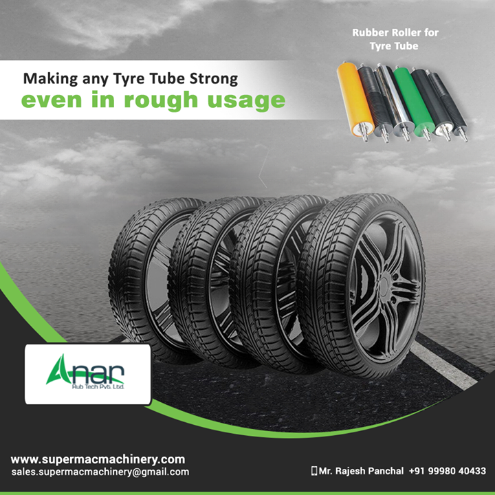 Utilising better quality Rubber for Tyre Tube by Anar Rub Tech and rolling it for a perfect shape and design giving long term usage.  #AnarRubTechPvtLtd