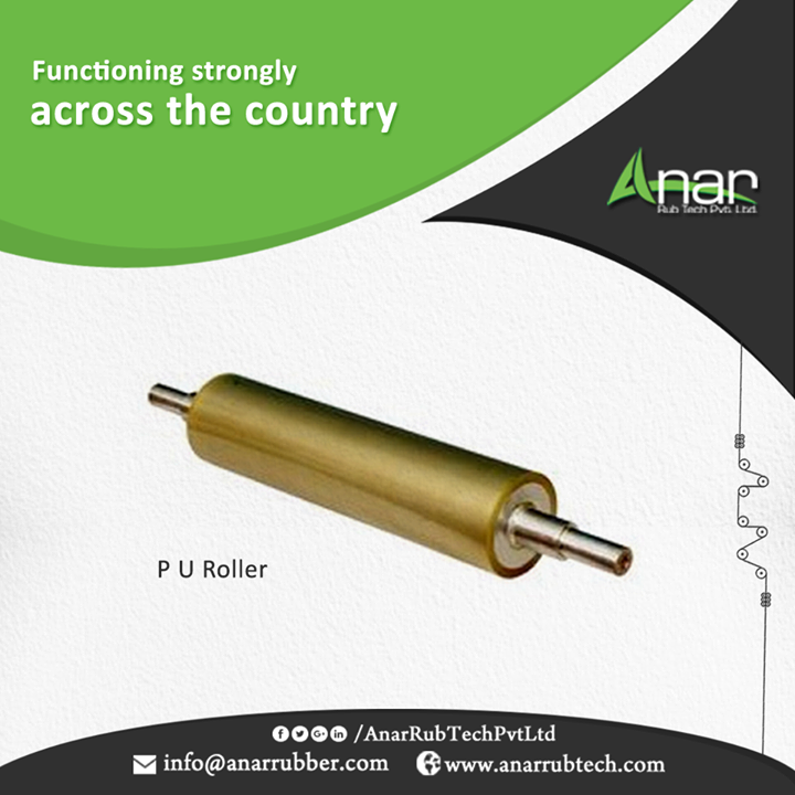 Polyurethane Rollers are made with international quality standards that are highly used in international countries to fulfill their requirements. #PURollers #AnarRubTechPvtLtd