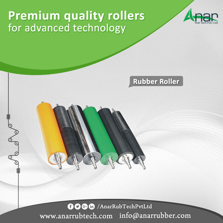 For global use and in convergence with its standards, Anar Rub Tech is manufacturing hi-tech rollers for capturing a global mark. These rollers are customization as per the specific requirements. #RubberRoller #RubberRollerManufacturers #RubberRollerSuppliers #RubberRollerExporters