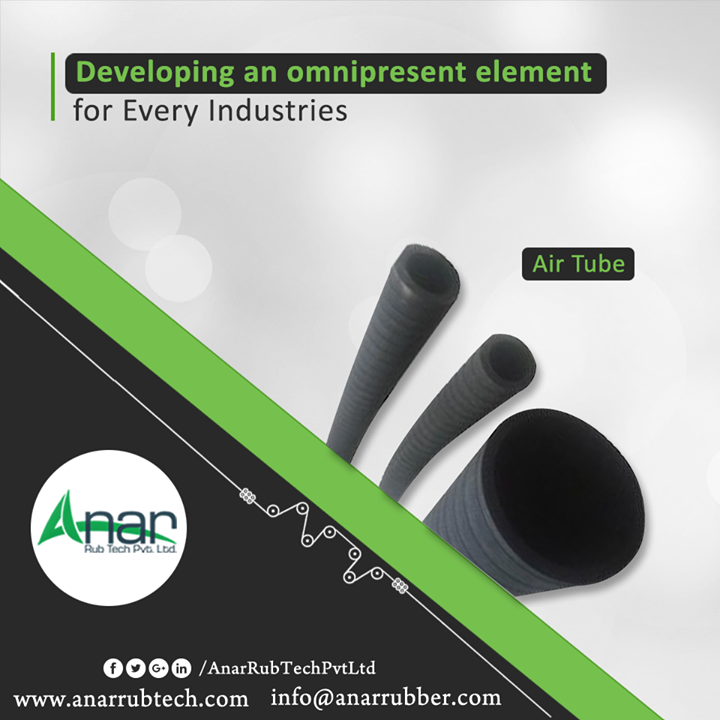 Air tubes manufactured by Anar Rub Tech Pvt. Ltd. is a multi-purpose tubes utilized in automobile, textiles, chemicals and foods industry as well. Light in weight, flexible and oil resistance hoses enables the safe usage of machinery. #AirTubes #AirTubesManufacturers #AirTubesSuppliers #AirTubesExporters