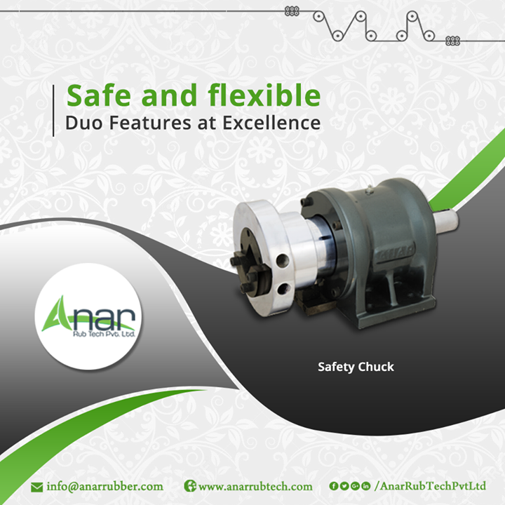 Safety chuck by Anar Rub Tech Pvt. Ltd. gives a calm mechanism which runs without affecting other industrial units and it also saves time in loading or unloading. #SafetyChuck #SafetyChuckManufacturers #SafetyChuckSuppliers #SafetyChuckExporters
