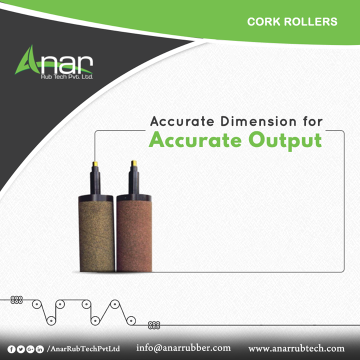 Cork Rollers by Anar Rub Tech are made with the accurate dimensions that give perfect outcome for any operational activities.  #CorkRollers #CorkRollersManufacturers #CorkRollersSuppliers #CorkRollersExporters