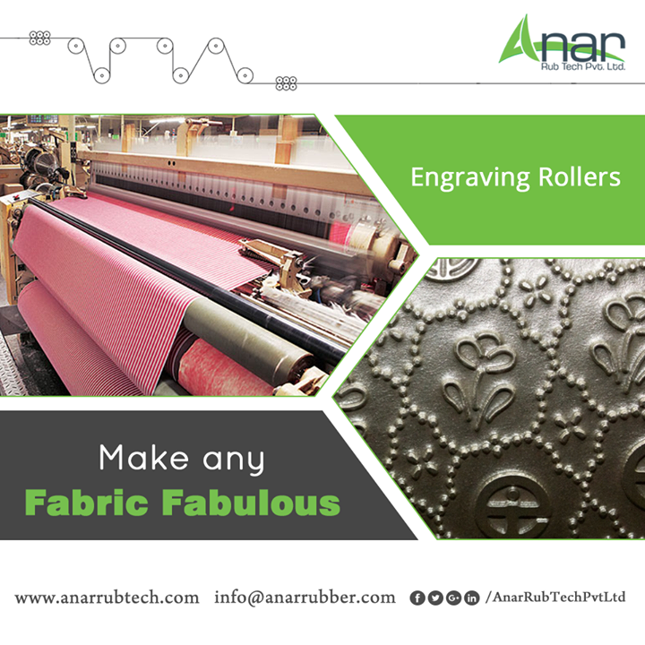 Engraving roller from Anar Rub Tech giving an embossed texture on any fabric and suitable for textile industry for better performance.  #EngravingRoller #EngravingRollerManufacturers #EngravingRollerSuppliers #EngravingRollerExporters