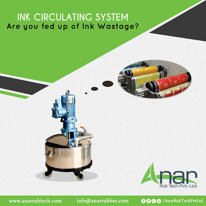 Ink Circulating System by Anar Rub Tech is made to reduce the wastage of ink and give the best outcomes.  #InkCirculatingSystem