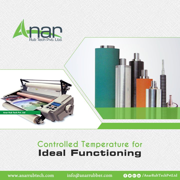 Lamination Roller by Anar Rub Tech gives Controlled Temperature when the heat exceeds above 150 degree to ensure the longer functionality for any operations. #LaminationRoller #LaminationRollerManufacturers #LaminationRollerSuppliers #LaminationRollerExporters