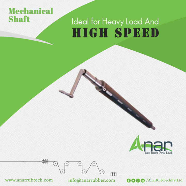 Mechanical Shaft by Anar Rub Tech are manufactured with expert technology that are able to carry high load and works on high speed.  #MechanicalShaft #MechanicalShaftManufacturers #MechanicalShaftSuppliers #MechanicalShaftExporters