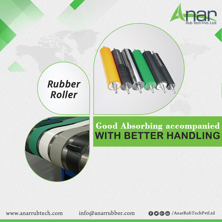 Rubber Rollers used in Leather Industry are made exclusively with good absorbing qualities and a better handling on heavy mechanism. #RubberRollers #RubberRollersManufacturers #RubberRollersSuppliers #RubberRollersExporters