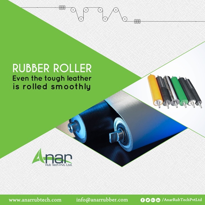 For any leather industry, high efficient Rubber Rollers by Anar Rub Tech are suitable for rolling the tough leather with ease and smoothly.  #RubberRollers #RubberRollersManufacturers #RubberRollersSuppliers #RubberRollersExporters