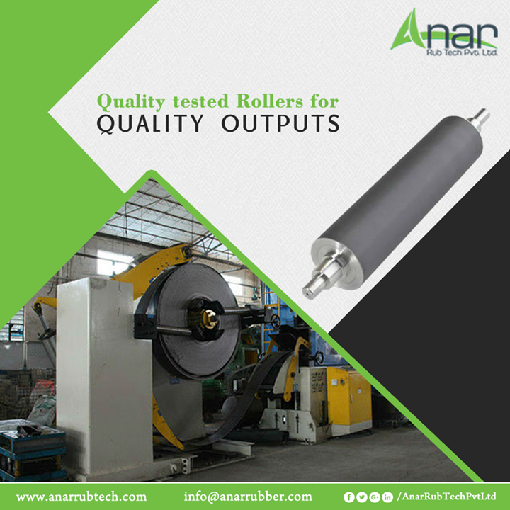 Every Roller of Anar Rub Tech is manufactured qualitative for better output in any industry. #AnarRubTechPvtLtd