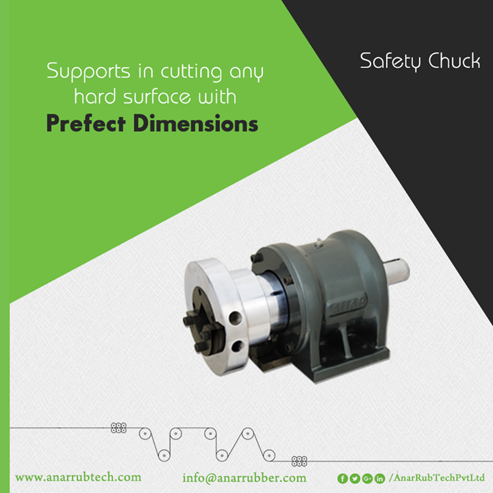 With exact dimensions and shape, Safety Chucks from Anar Rub Tech helps in assisting machines for cutting any hard material. #AnarRubTechPvtLtd
