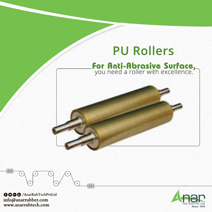 PU Rollers by Anar Rub Tech are anti-abrasive and good enough to handle all the operational work for longer period with excellence.  #PURollers #PURollersManufacturers #PURollersSuppliers #PURollersExporters