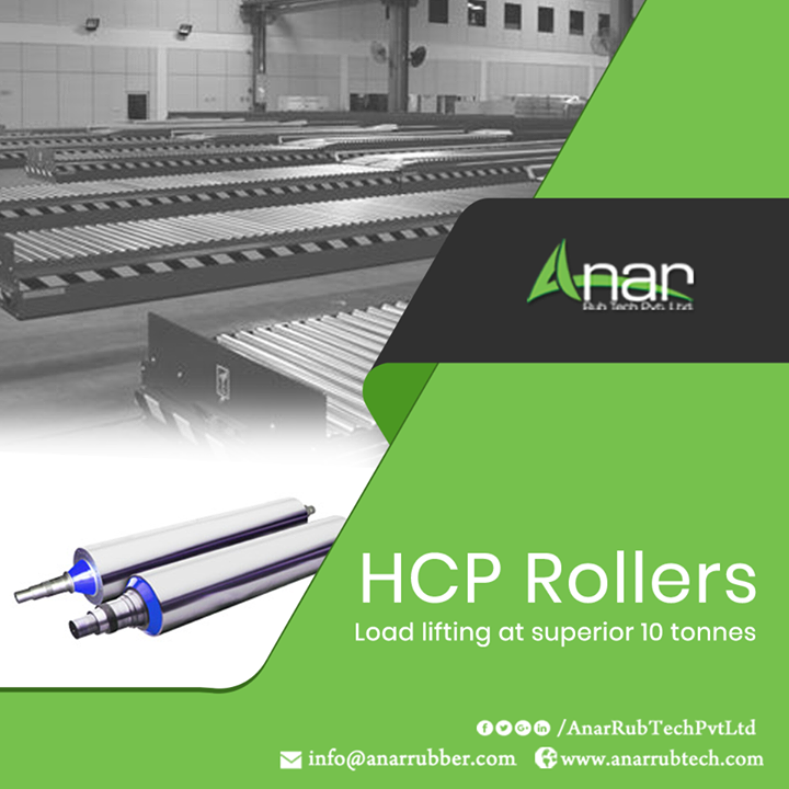 HCP Rollers by Anar Rub Tech are manufactured to handle heavy load in prolonged operations for up to 10 tonnes of load at one time to give the best outcomes.  #HCPRollers #HCPRollersManufacturers #HCPRollersSuppliers #HCPRollersExporters