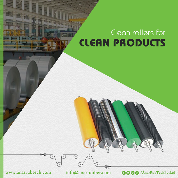 Anar Rub Tech understands the freshness needed for a foil and so does it manufactures foil in a very clean area with cleaned rollers.  #RubberRoller #RubberRollerManufacturers #RubberRollerSuppliers #RubberRollerExporters